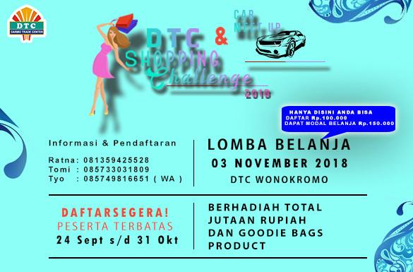 Lomba Belanja di DTC Shopping Challenge 2018 Berhadiah Total Jutaan Rupiah