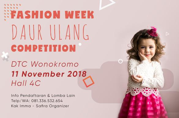 Kompetisi Fashion Week Daur Ulang Safira Organizer di DTC Wonokromo