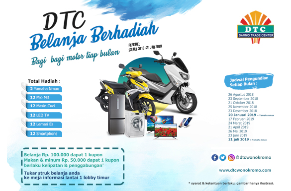 Pengundian DTC Belanja Berhadiah Periode Desember 2018