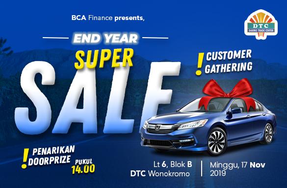 "Customer Gathering Mobil Bekas ""End Year Super Sale"""